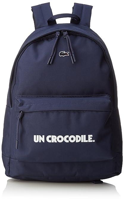 Lacoste NH2213NT Neocroc Fantasía Mochila para Hombre, Color Azul (Un Crocodile)