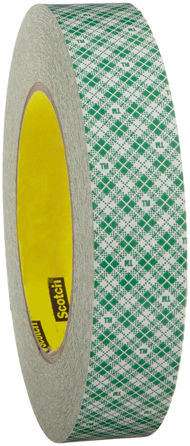 3M Double Coated Paper Tape 410M, 1 in x 36 yd 5.0 mil (Pack of 1) 410M25