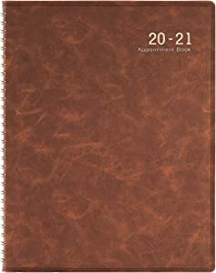"2020-2021 Weekly Appointment Book/Planner - 53 Weeks Daily Planner Organizer, 15-Minute Increments, July 2020 - June 2021, Flexible Cover, Twin-Wire Binding, 8.5"" x 10.85"""