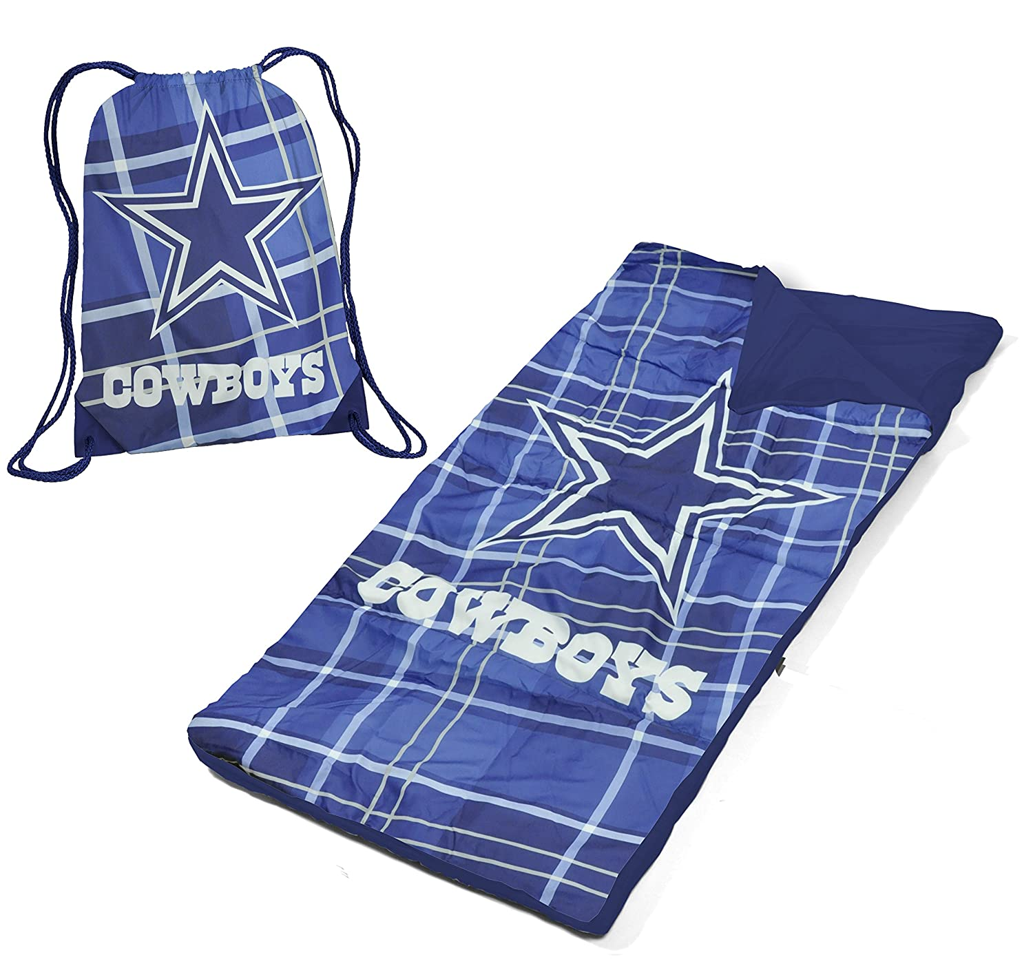 NFL Dallas Cowboys Drawstring Bag with Sleeping Sack Idea Nuova - LA NK980274