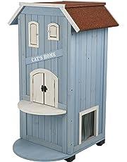 Trixie Caseta Exterior Gatos, 56x94x59cm, Azul Cl./Blanco