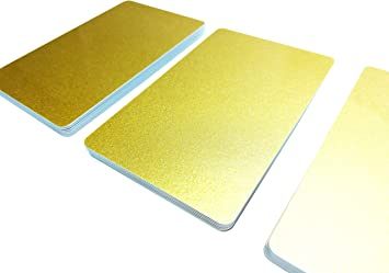 blanko Kartendrucker PVC Karten Gelb 25 5-500 St/ück Premium Plastikkarten NEU!