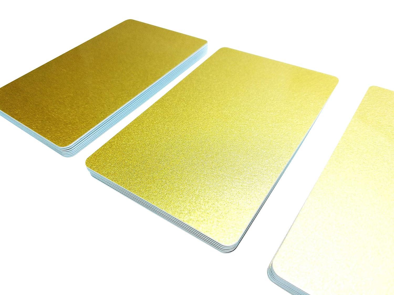 Bianco 5/| in plastica PVC Carte 85 x 54 x 0,76 mm rosso metallizzato NEU scegliere da 20/diversi colori