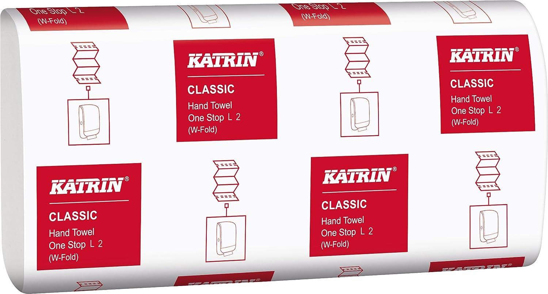 Katrin aek152 Classic One Stop L2 toalla de mano, 2 capas, color blanco (Pack de 2310) 2capas