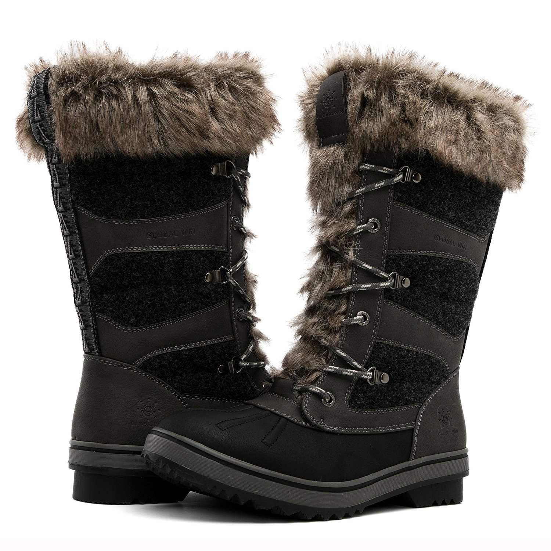 Global Win GLOBALWIN Women's 1730 Winter Snow Boots B074XJDGTM 9(M) US Women's|1730grey