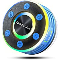 iporachx Altavoz Bluetooth Ducha, Altavoz Bluetooth 5.0 Portatil IPX7 Impermeable con Ventosa Desmontable, Sonido…