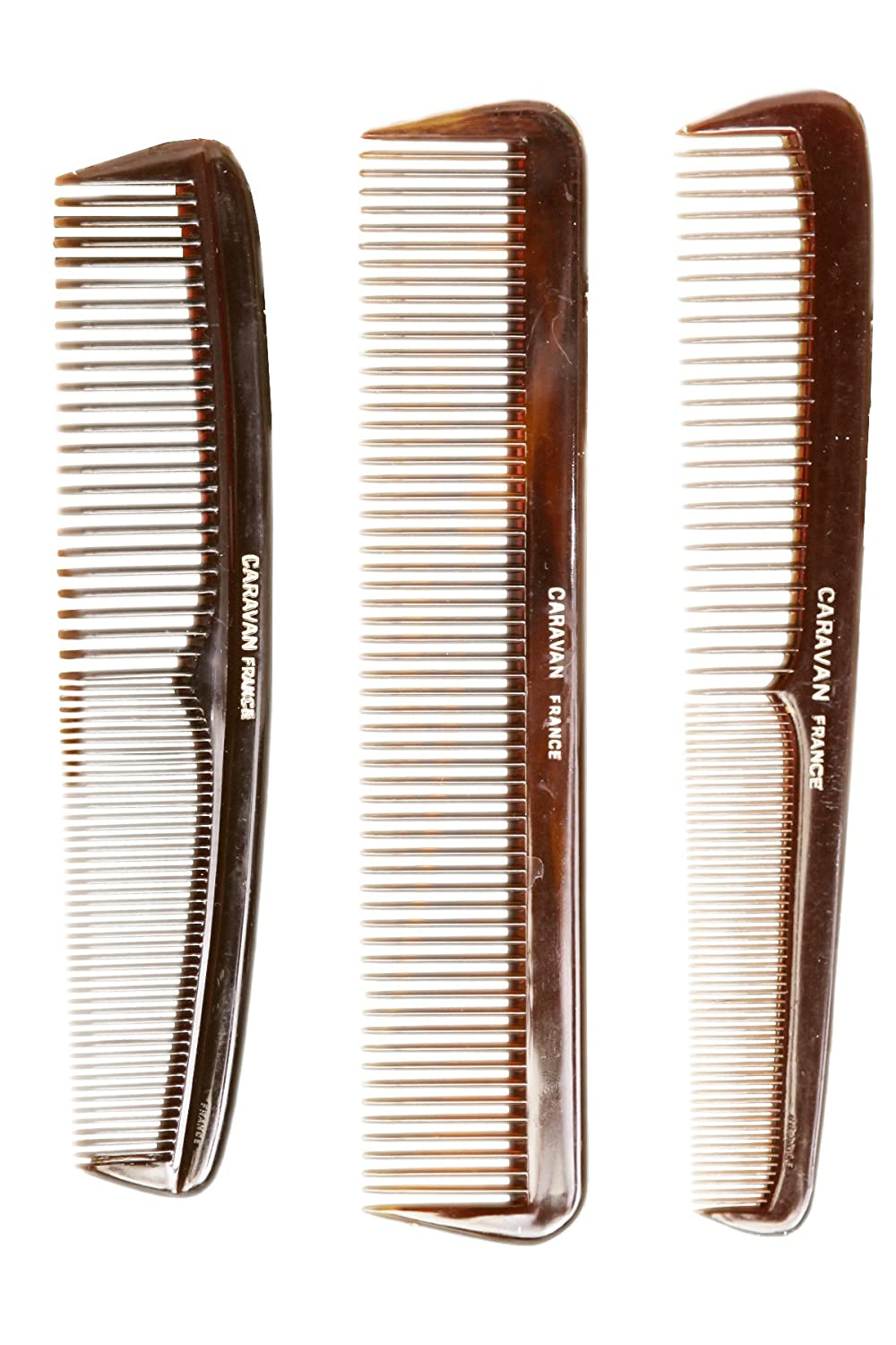 Caravan Tortoise Set of 3 Shell Comb, French Full 49111