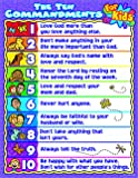 Carson Dellosa Christian The Ten Commandments for Kids Chart (6359)