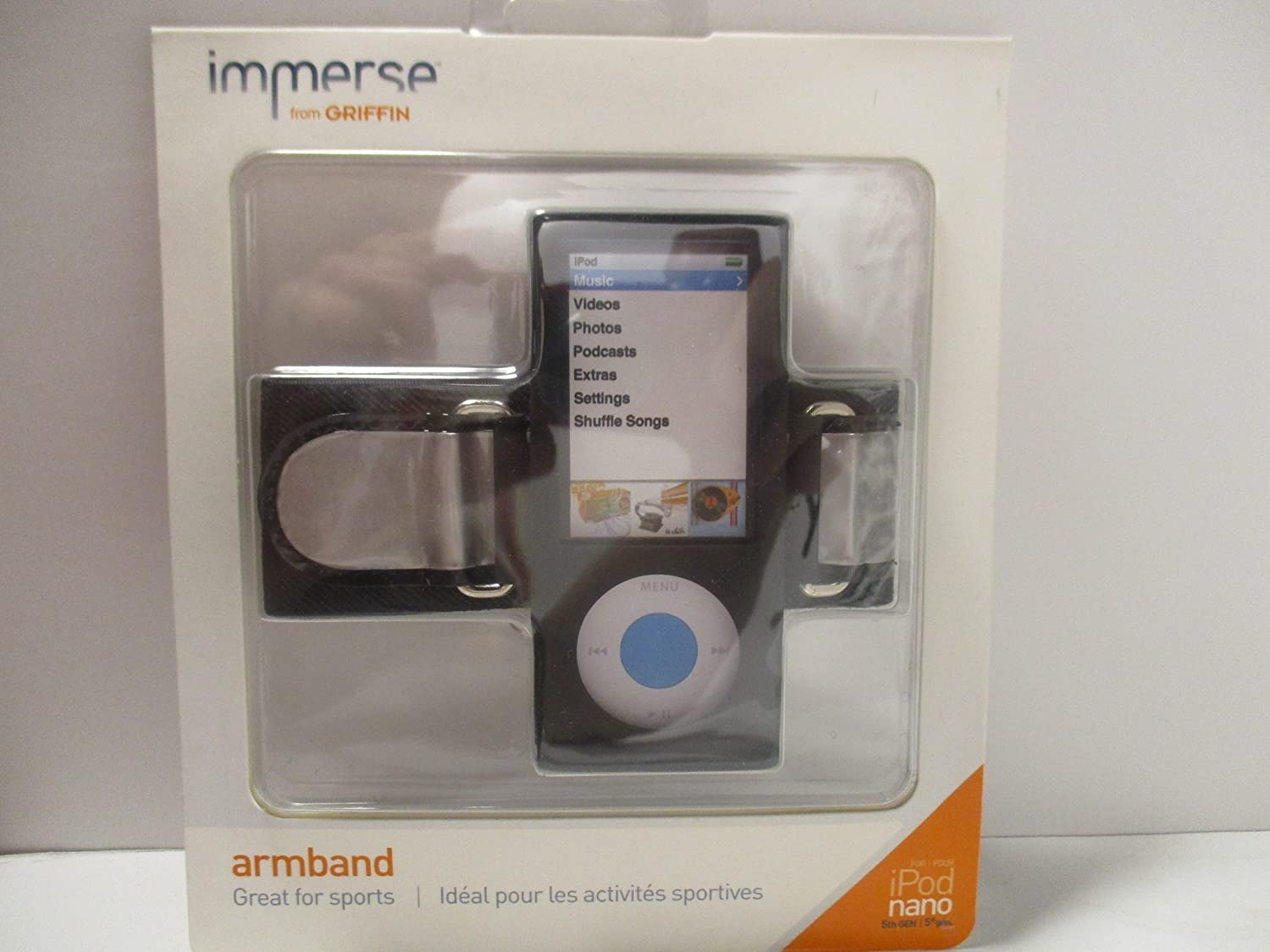 Griffin Immerse Armband and Case for iPod Nano 5th Gen Black