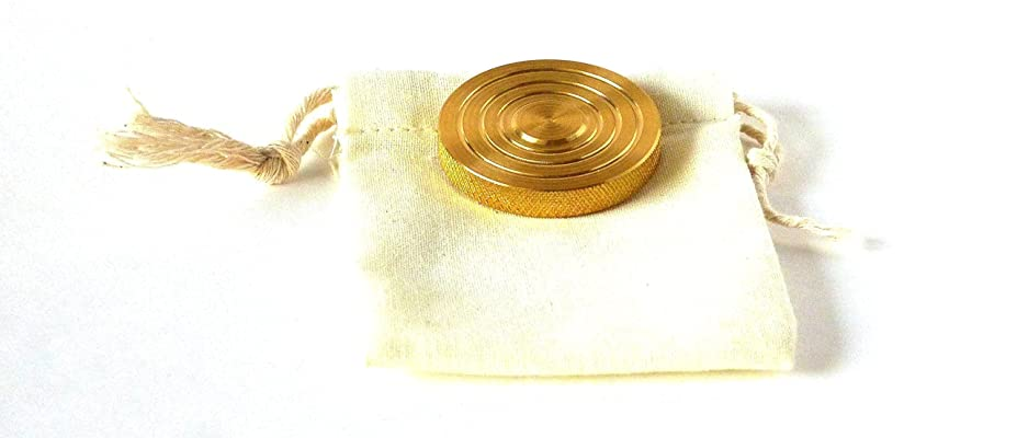 THE FLATTOP - BRASS HANDMADE EDC SPINNING TOP - MADE IN THE USA