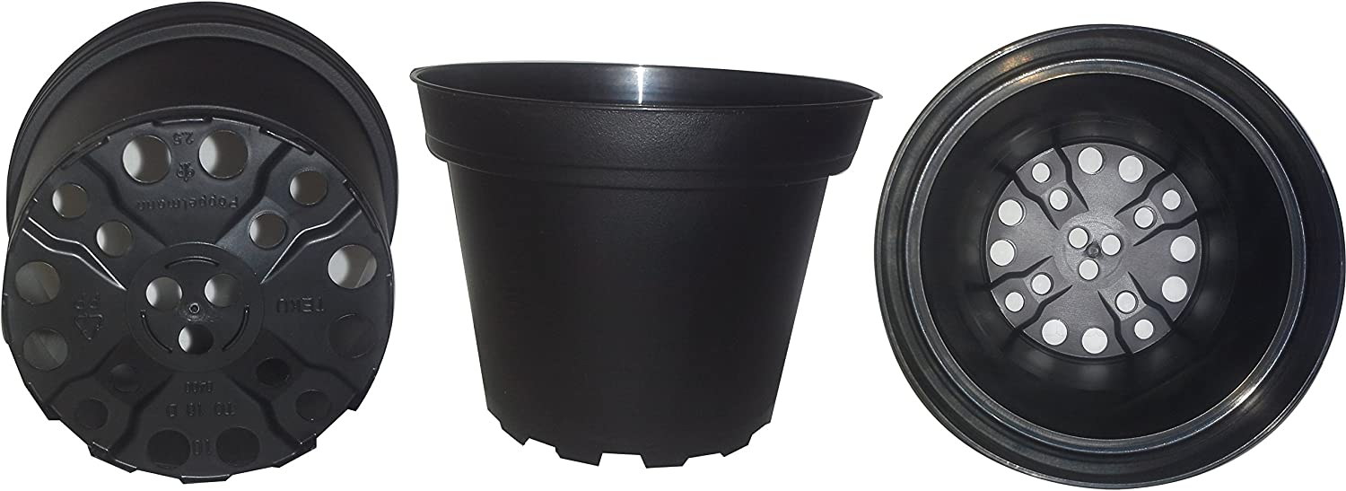 Plastic Pots for Plants, Cuttings Seedlings, 4-Inch, 30-Pack. Color Black