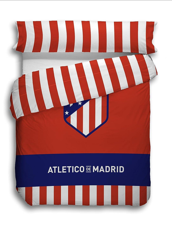 Atlético de Madrid. Juego Funda Nórdica de 3 piezas Oficial del Club. ATM 2018. (Cama 90 cm)
