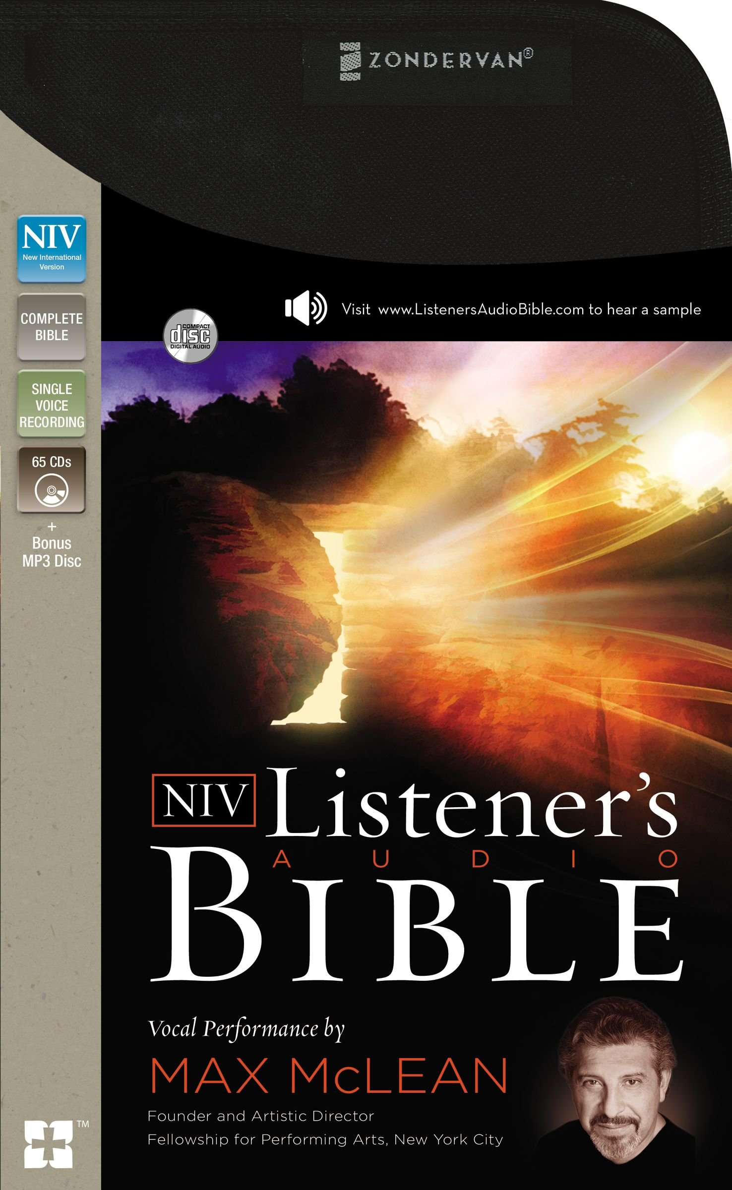 NIV, Listener's Audio Bible, Audio CD: Vocal Performance by Max McLean by HarperCollins Christian Pub. (Image #1)