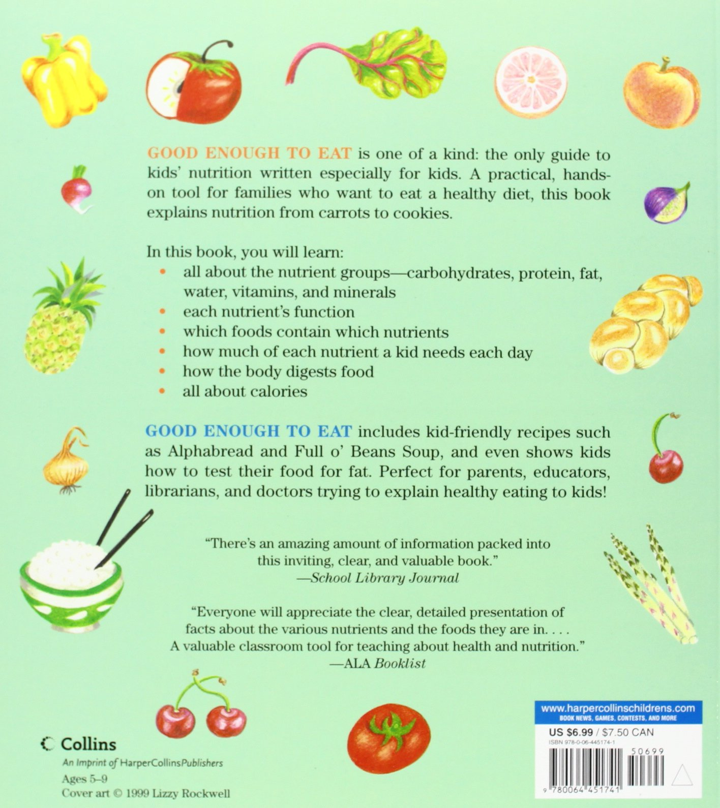 Good Enough To Eat A Kid S Guide To Food And Nutrition Lizzy