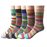 Amazon Price History for:Pack of 5 Womens Vintage Style Cotton Knitting Wool Warm Winter Fall Crew Socks