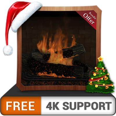 chimenea tribal gratis en alta definición: disfrute de las frías vacaciones de Navidad en invierno en su TV HDR 4K, TV 8K y dispositivos de fuego como fondo de pantalla y tema para la mediación y la p
