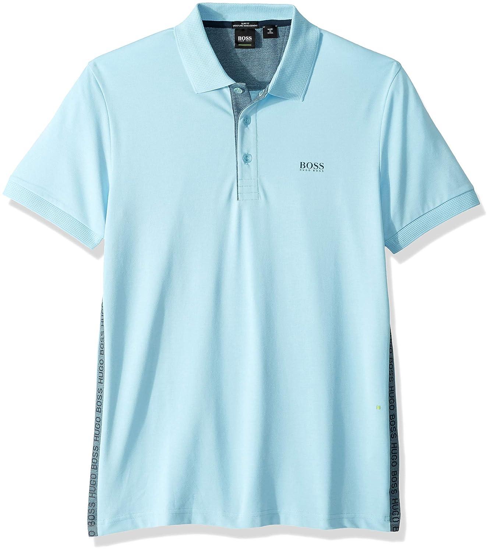 Burgundy Gray Lot of 2 Men/'s Hugo Boss Paule 4 Cotton Polo Shirt Slim Fit