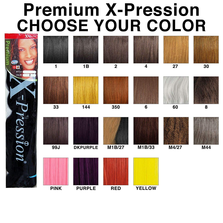Amazon Com X Pression Premium Original Ultra Braid Color 1b