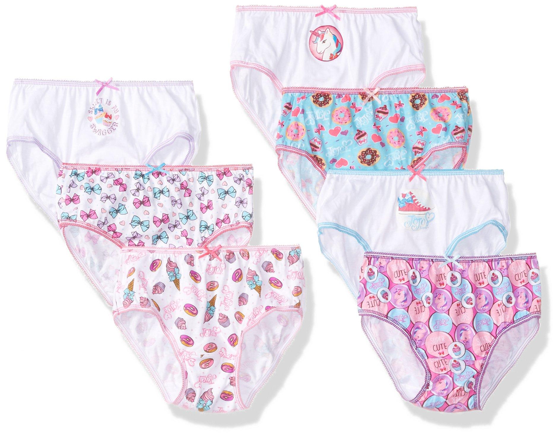 Nickelodeon Little Girl's 7-Pack JoJo Siwa Bikini Brief Underwear