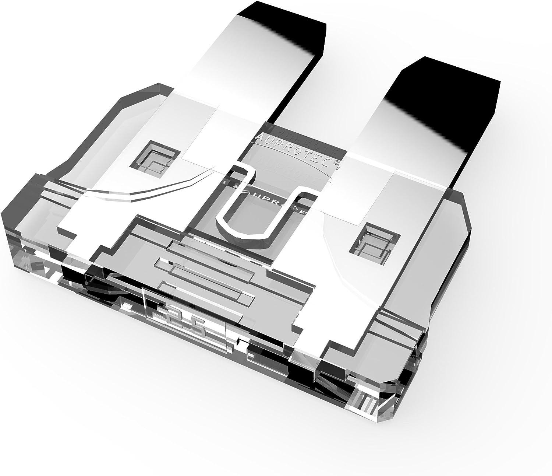 50 St/ück AUPROTEC Standard ATO Flachstecksicherung 1A 35A Ampere blau 40A Stecksicherung Schmelzsicherung Auswahl