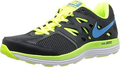 Estresante propiedad después de esto  Nike Dual Fusion Lite - Zapatillas de running para hombre, color  negro/verde, talla 44.5: Amazon.es: Zapatos y complementos