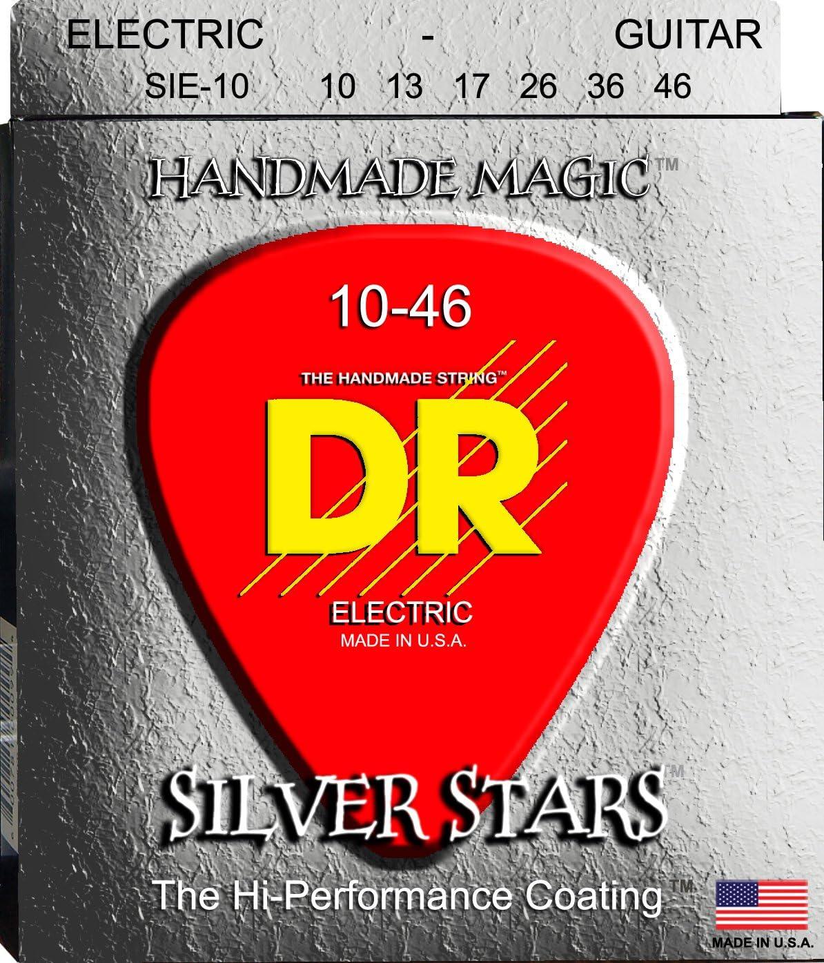 Dr Strings Silver Stars 10–46juego de cuerdas para guitarra eléctrica