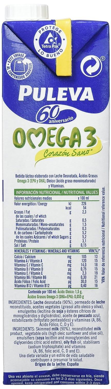 Puleva Leche con Omega 3 - Pack de 6 x 1 l - Total: 6 l: Amazon.es: Amazon Pantry
