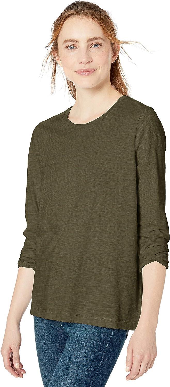 Goodthreads Vintage Cotton Long-Sleeve Crewneck T-Shirt Donna Marchio