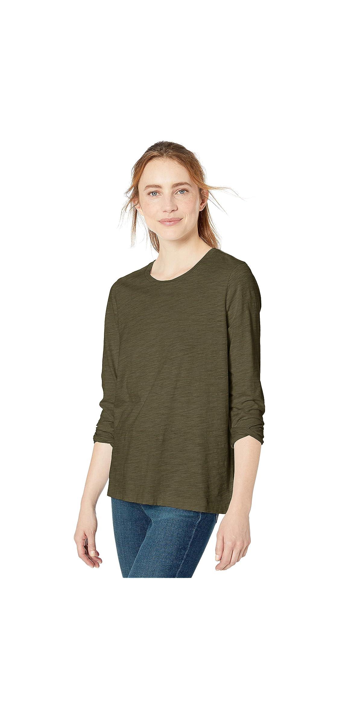 Amazon Brand - Women's Vintage Cotton Long-sleeve