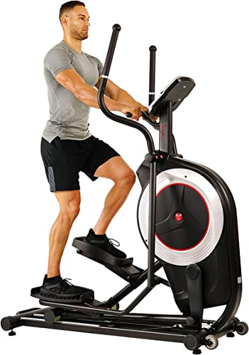 Sunny Health Fitness Motorized Elliptical Trainer Elliptical Machine with Programmable Monitor, High Weight Capacity and 20 Inch Stride – SF-E3875