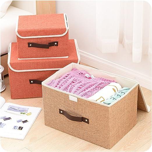 hihihappy plegable nuevo organizador caja de almacenamiento cesta Caixa organizadora organizador de Maquiagem ropa Rectangular ropa organizador de profundidad azul L: Amazon.es: Oficina y papelería