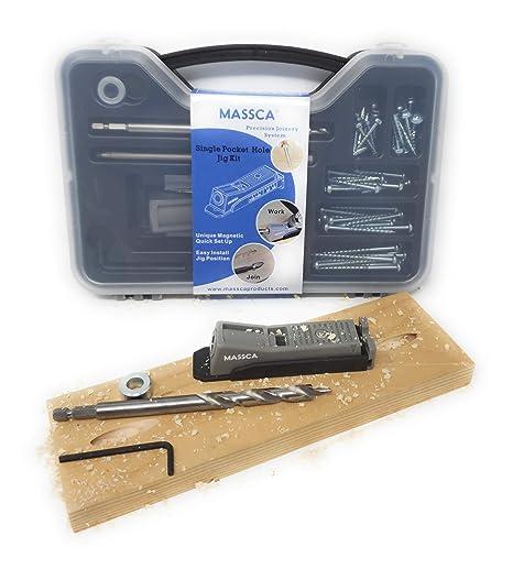 Amazon.com: Massca One Hole Pocket Jig Set Box– Adjustable ...