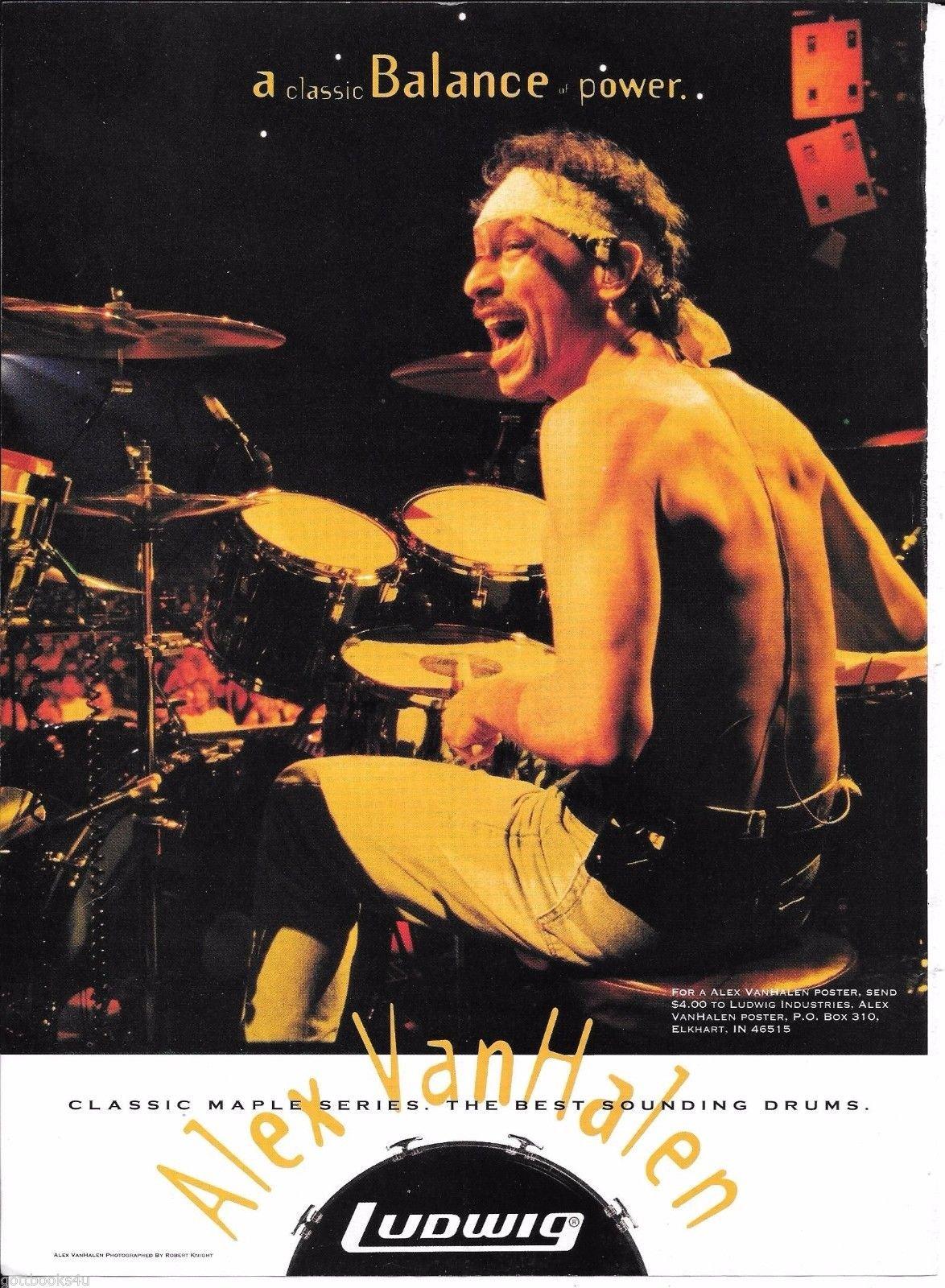 Ludwig Drums Classic Maple Series Alex Van Halen 1998 Advertisement Modern Drummer 6238301086094 Amazon Com Books
