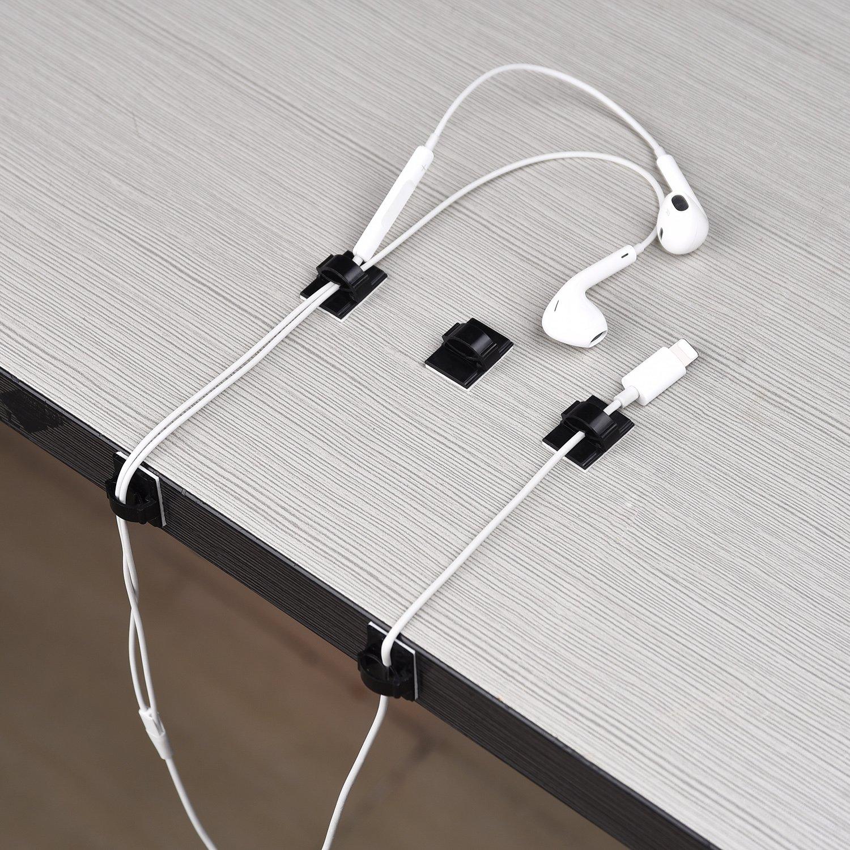 50 Stück Selbstklebende Kabelklemme Kabelbinder Kunststoff ...