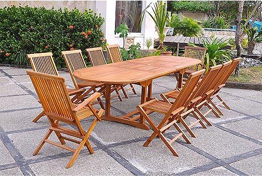 El Togo-Juego de mesa y sillas de jardín madera de teca encerada ...