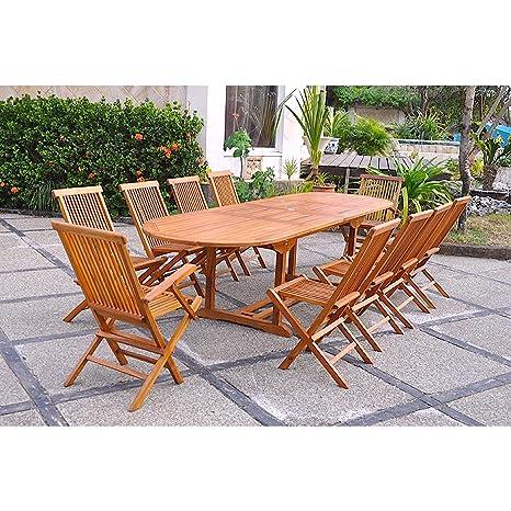 El Togo-Juego de mesa y sillas de jardín madera de teca ...