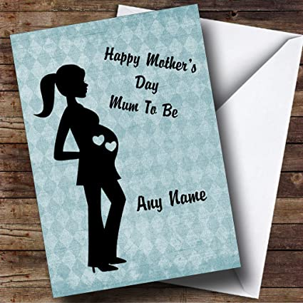 Amazon blue mum to be pregnant lady personalized mothers day blue mum to be pregnant lady personalized mothers day greetings card m4hsunfo