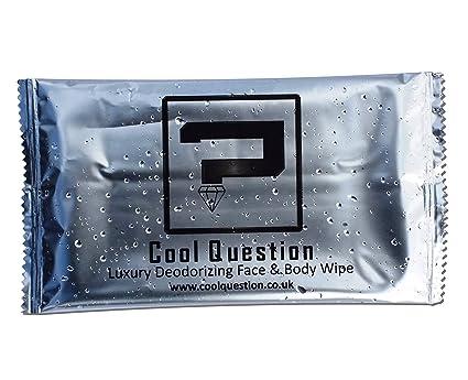 Cool Question individualmente empaquetado de lujo Deodorant cara & Cuerpo Toallitas – Deportes, festivales,