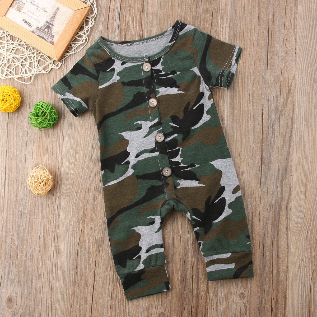 Newborn Kids Baby Boys Cute Solid Color Long Sleeve Hooded Romper Jumpsuit Top Outfits Clothes