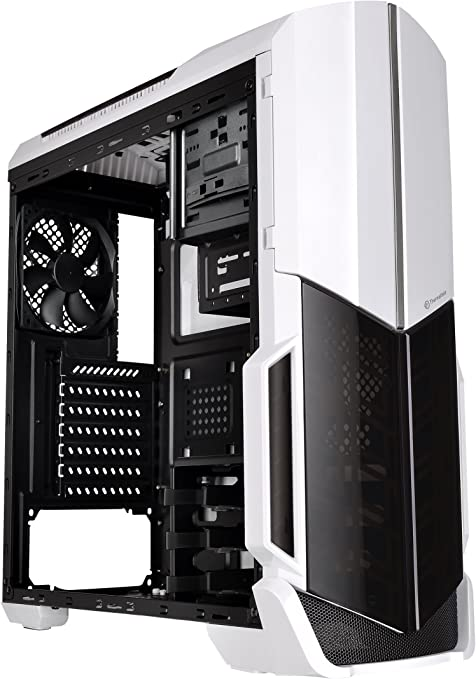Black Mid-tower Thermaltake Versa N21 Snow Window Mid-tower Chassis White