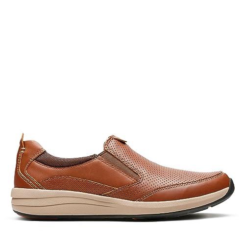 Clarks Triken Easy Suede Shoes In Tan Standard Fit Size 6  7DBZEMLST