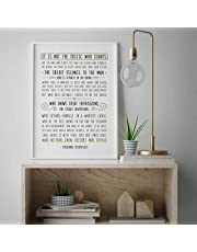 MalertaART Man In The Arena Theodore Roosevelt Quote Famous Quote Poster Minimalistic Saying Wall Art Rustic Print Gift Typography Sign 262 Framed Wall Art