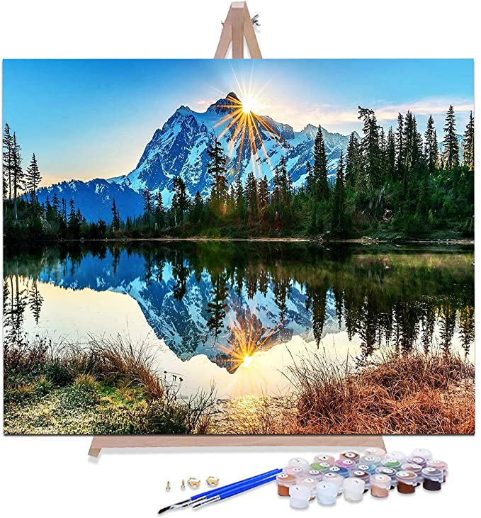 CELLYONE MEEKIS Paint By Numbers For Adults and Kids DIY Oil Painting Extreme peakArt paintings Bedroom decoration 40x50cm Framed