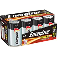 Energizer C Cell Batteries, Max Alkaline