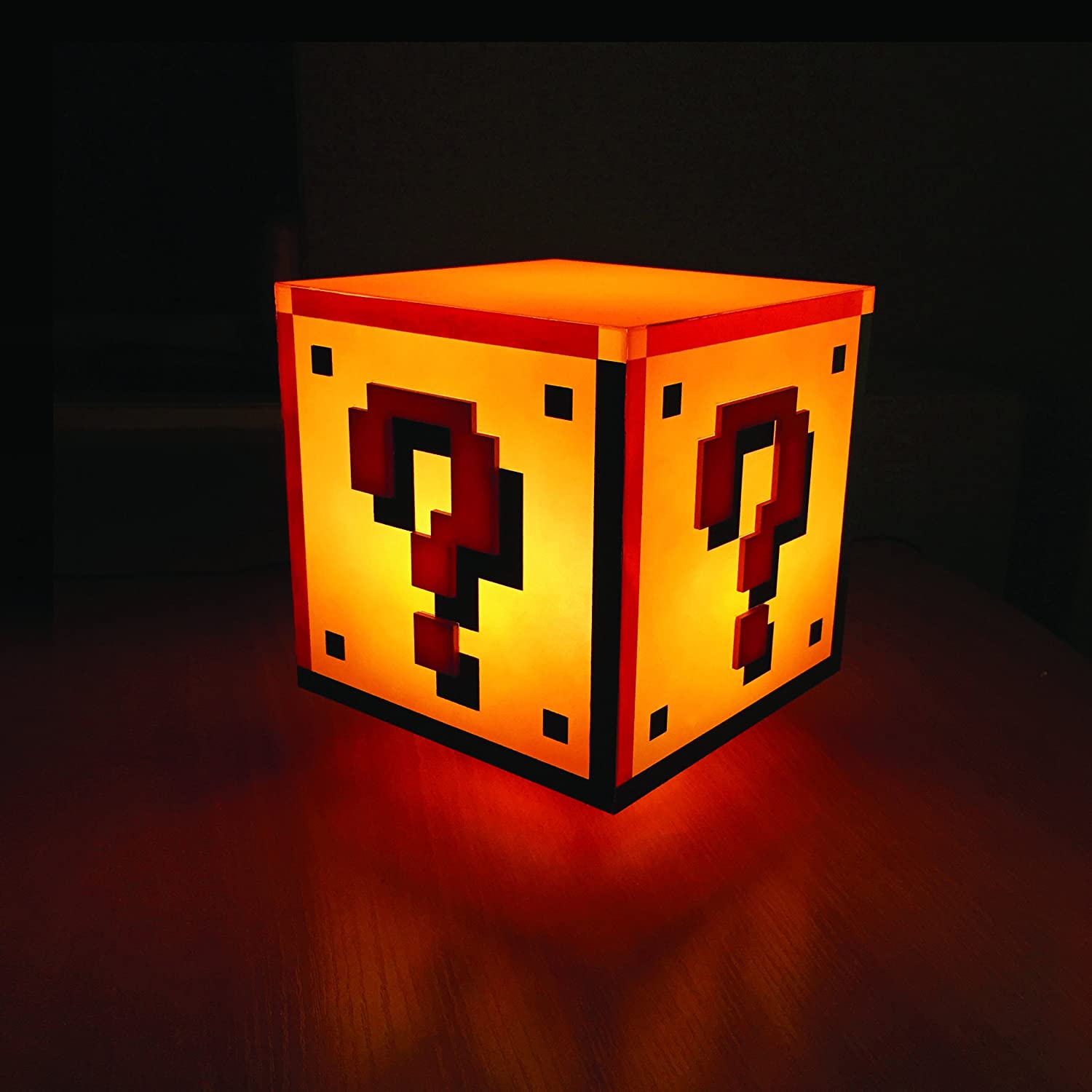 amazon com paladone super mario question block night light toys amazon com paladone super mario question block night light toys games