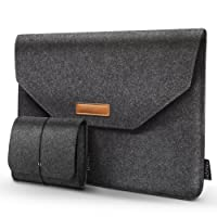 HOMIEE 15-15.6 Inch Laptop Sleeve Portable MacBook Sleeve Case for 15 Inch New MacBook Pro and Other Ultra Slim Laptops Ultrabooks and Notebooks, Shockproof Carrying Bag, Dark Gray