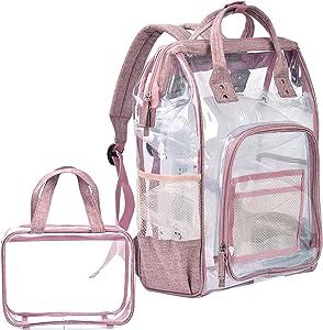 Free Balahibo Clear Backpack Transparent PVC Multi-Pockets…