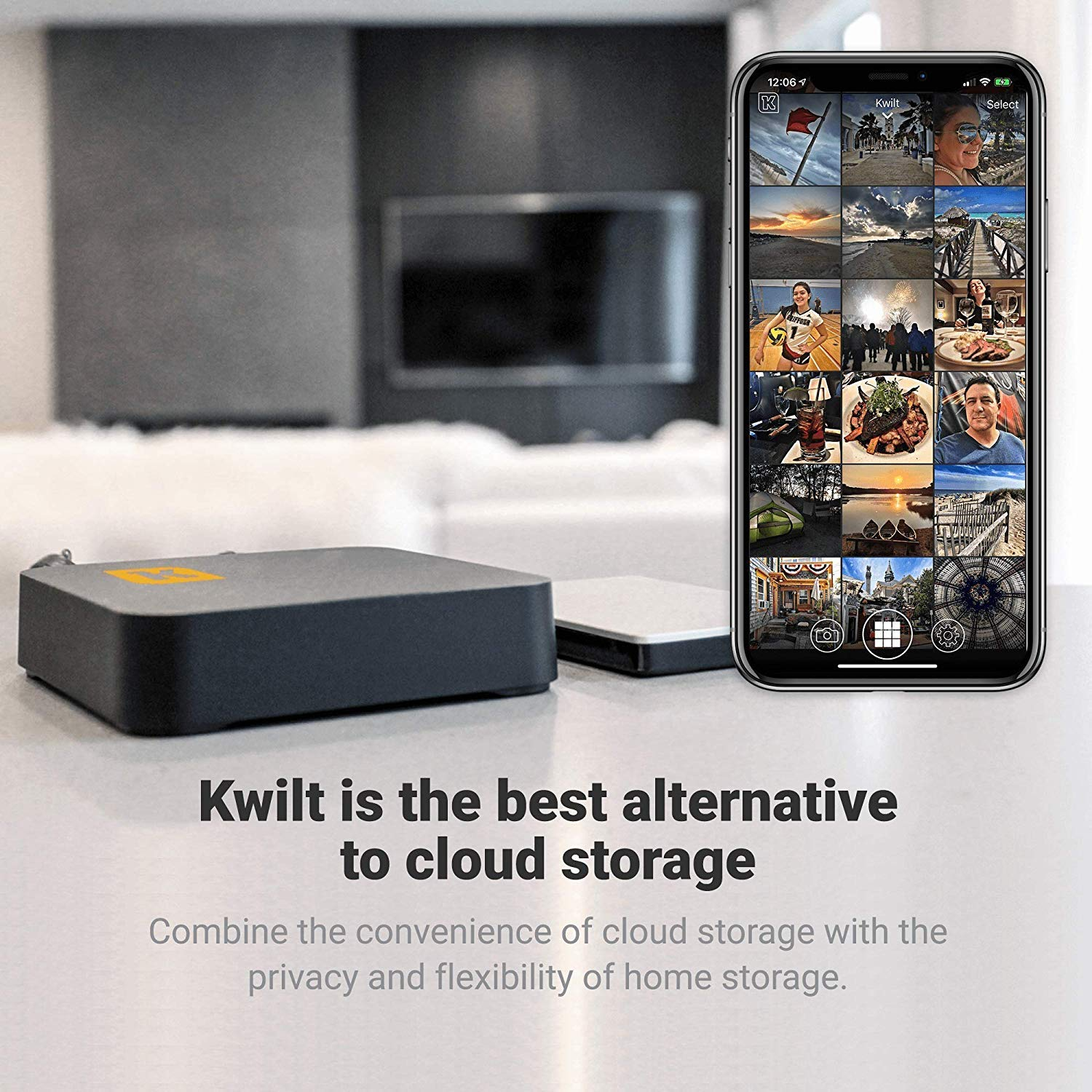 Kwiltgo Iphone Android External Storage Wireless Storage Drive And Photo Video Storage Device Wifi Backup Drive Remote Private Cloud Storage 16