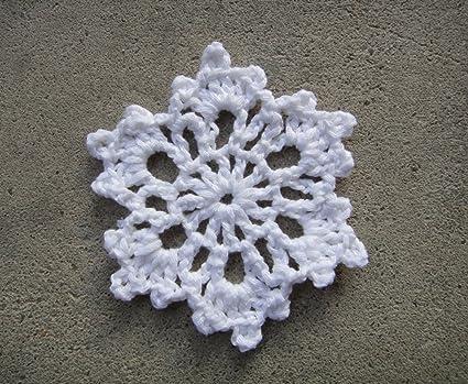 Amazon Com Crochet Snowflake Homemade Christmas Ornaments