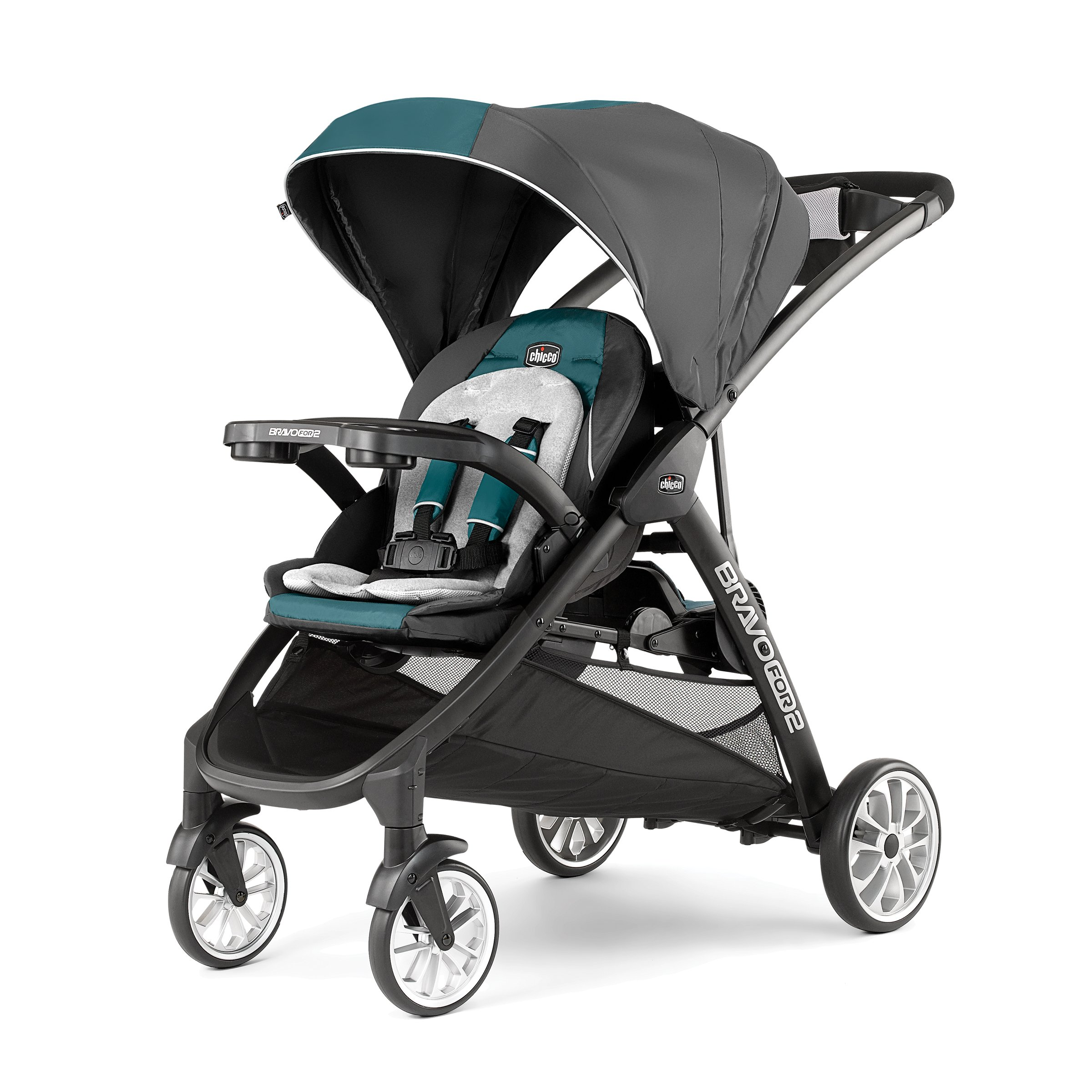 Chicco BravoFor2 LE Standing/Sitting Double Stroller, Eucalyptus by Chicco